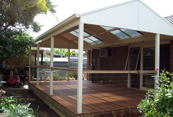 Gable-Colorbond-Steel-Veranda-with-Merbau-Decking-frontview